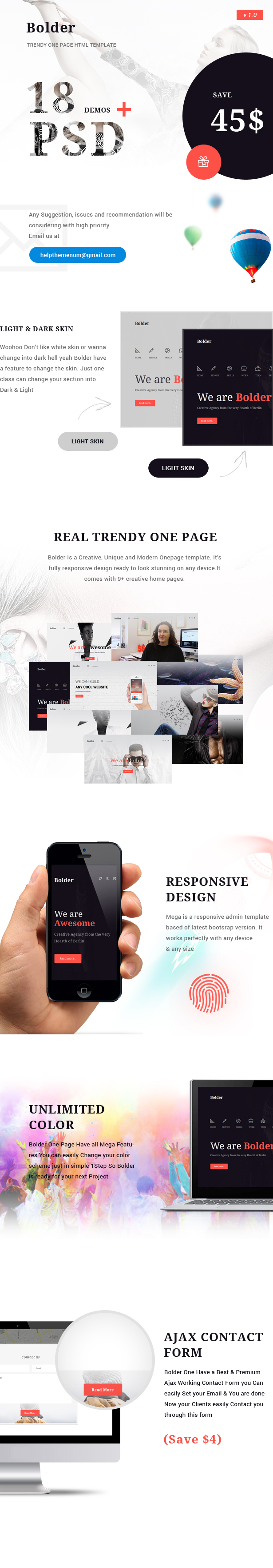 Bolder - Trendy One Page Multipurpose Template